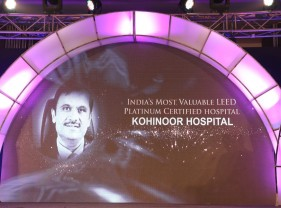 "Unmesh Joshi Led Kohinoor Hospital voted as ""India's Most Valuable LEED Platinum Certified hospital"" at Pharma Leaders Power Brand Annual Awards 2016"