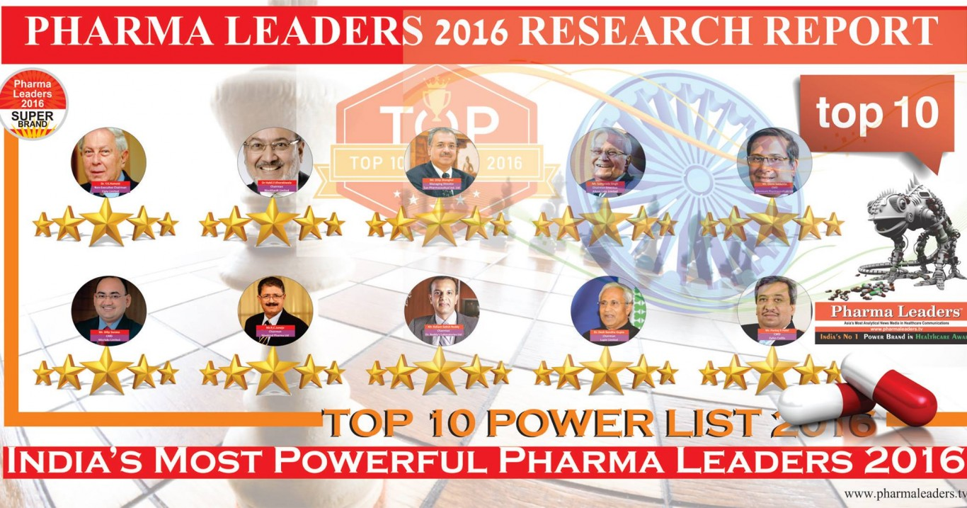 India's Top 10 Powerful Influential Pharma Leaders 2016 List