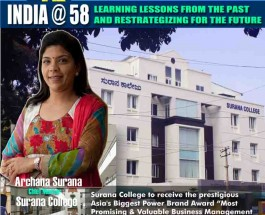 "Renowned Educationalist Archana Surana voted by the Network 7 Media Group Jury as ""India's Most Valuable Woman Educationalist & Reformist of the year 2015"""