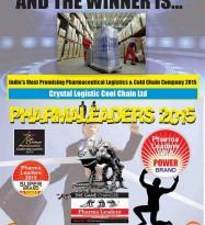Crystal Logistic Cool Chain Wins the prestigious Super Brand Award at Pharma Leaders 2015 Annual Edition