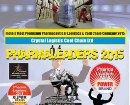 Crystal Logistic Cool Chain Wins the prestigious Super Brand Award at Pharma Leaders 2015 Annual Edition