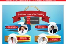 Dr. Shuchin Bajaj,Prof. Dr. C Mohamed Ashraf,Dr. Hrishikesh D. Pai, Dr.Dharminder Nagar, Dr. Sourabh Welling, Dr.S Gurushankar  are in the race for the prestigious Healthcare Leader of the Year 2017 at Nation's Biggest Pharma Leaders healthcare award
