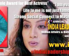"Kavita Radheshyam to receive the prestigious ""Critics' Choice Movie Award for Best Actress"" at India Leadership Conclave 2015 Power Brand Awards"