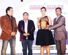 "Bollywood Diva Tina Ahuja Crowned ""Emerging Actress of the year"" at India Leadership Conclave 2015"