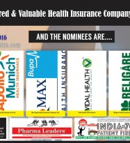 Star Health,Apollo Munich,Max Bupa,Vidal,Religare,Reliance General Insurance are in race for India's Most Valuable & Admired Health Insurance Company 2016