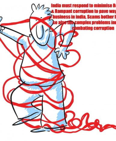 India must respond to minimise Red-tapism  & Rampant corruption to pave way for doing business in india, Scams bother Investors, so also the complex problems india has in combating corruption