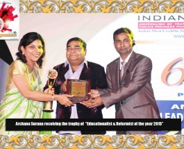 """Bangalore based Surana Group of Institutions voted as """"Top Management Institute"""" & Archana Surana as """"India's Most Valuable Woman Educationalist & Reformist"""" at ILC Power Brand 2015"""