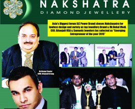 "India votes Renowned Jewellery Brand Nakshatra as  ""India's Most Admired & Valuable  Jewellery Brand 2015"" at India Leadership Conclave 2015"