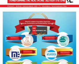 Brawn Biotech,Medicamne,Shilpa Medicare,Mangalam Drugs & Organics,Morepen Laboratories &  Laurus Labs Ltd are in race for the coveted Pharma Leaders Innovation Award for Corporate Governance and Sustainability Vision 2017 2017