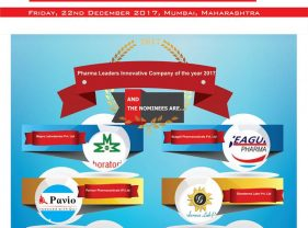 Mapra Laboratories,Paviour Pharmaceuticals,Talent Healthcare, Seagull Pharma,Glowderma & Premier Nutraceuticals are in the race for the prestigious Pharma Leaders Innovative Company of the year 2017